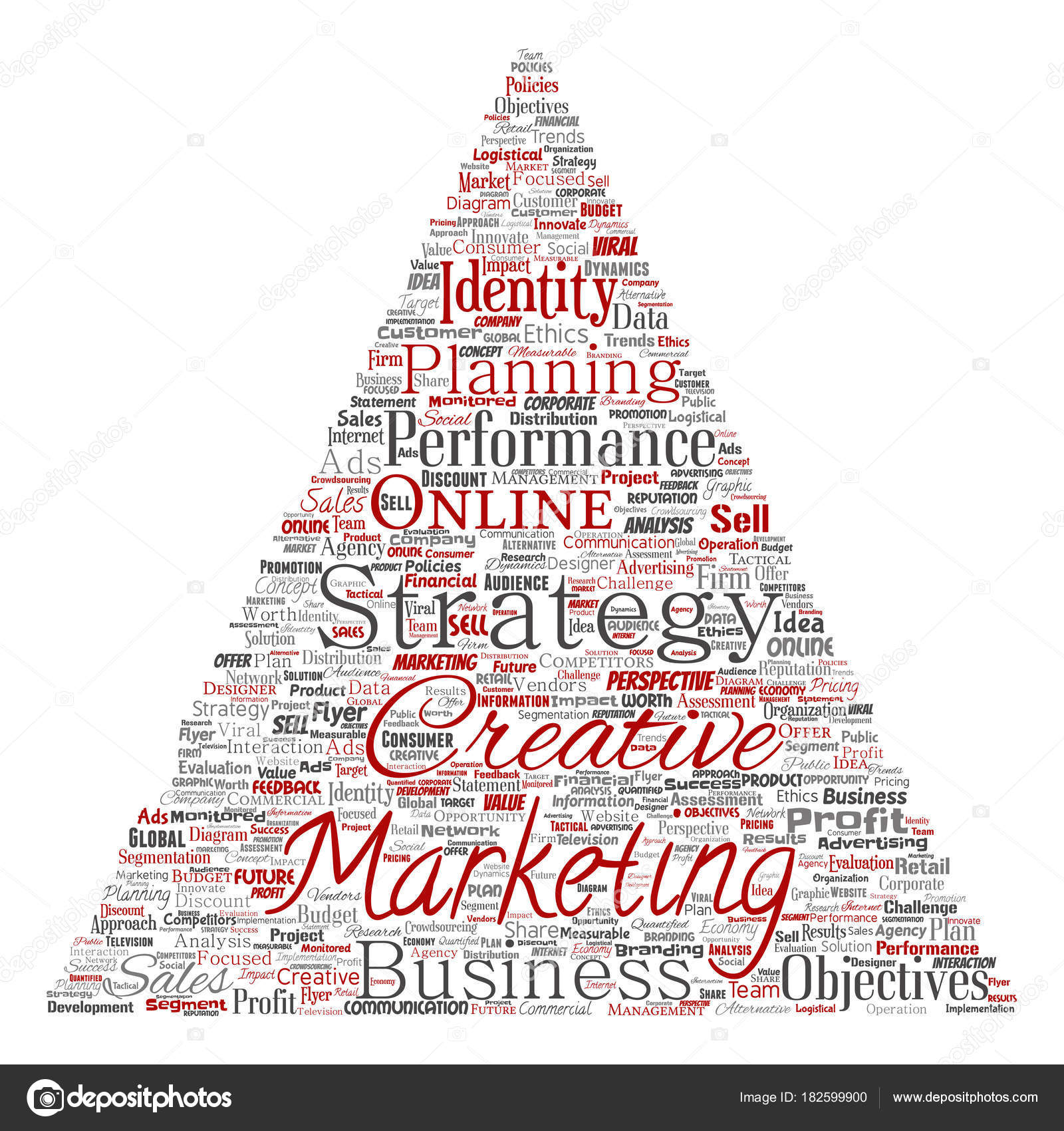 Vector Conceptual Development Business Marketing Target Triangle ...