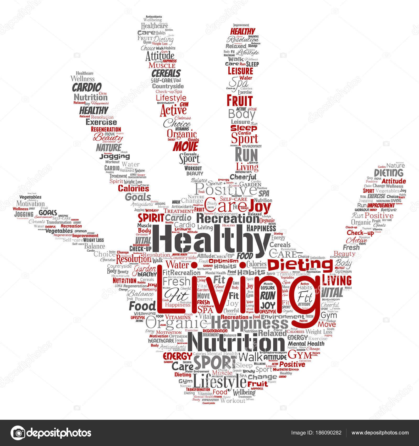 Vector Conceptual Healthy Living Positive Nutrition Sport