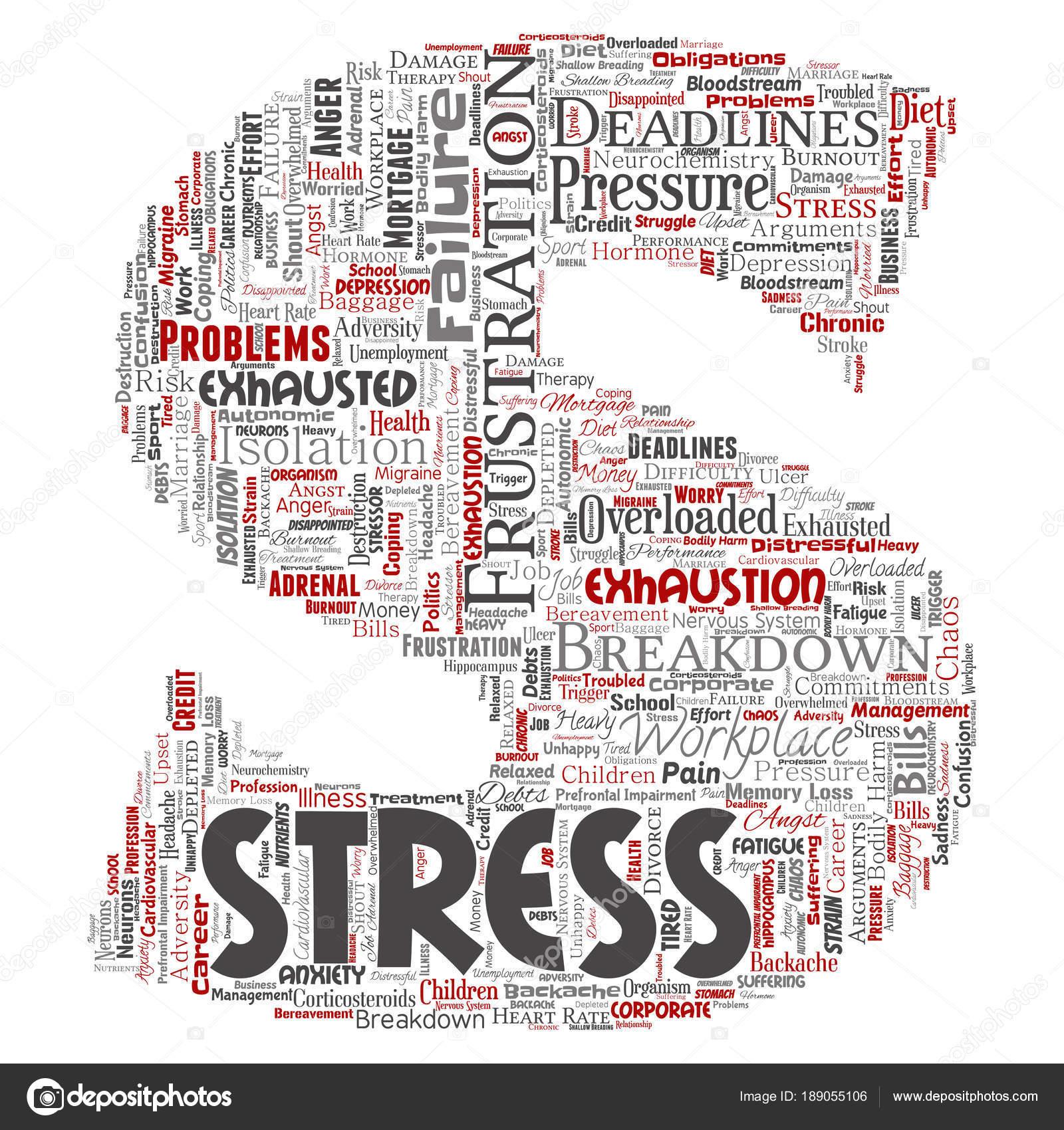 Mentale Stress Sul Posto Lavoro Lavoro Pressione Tipo Carattere ... d8ac03a4913