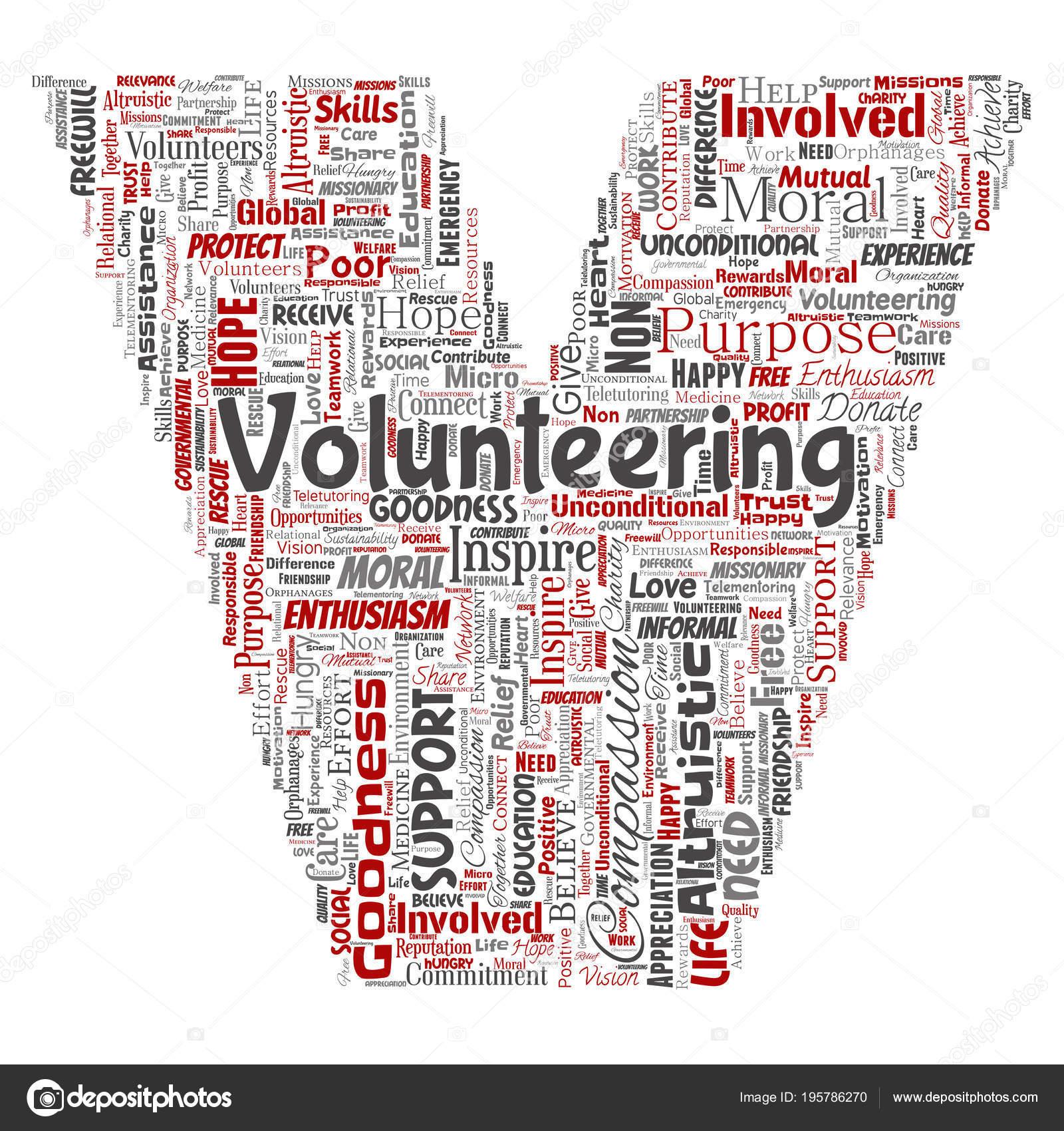 Vector Conceptual Volunteering Charity Humanitarian Letter