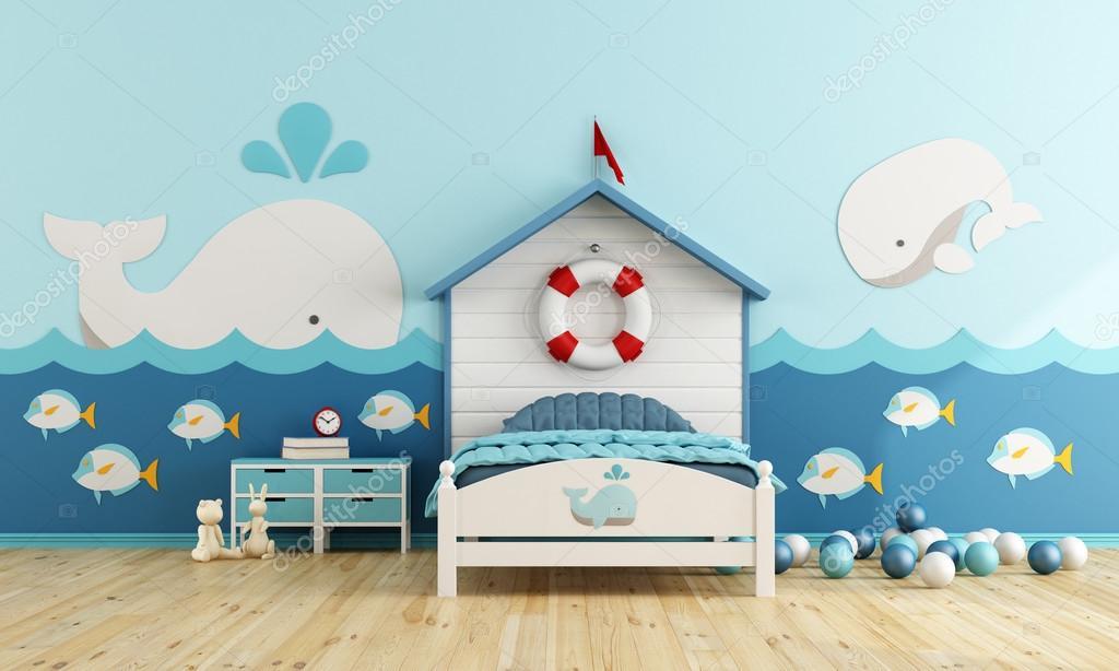 Kids room in marine style