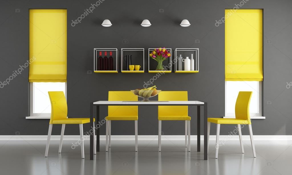 Schwarz und gelb Wohnzimmer — Stockfoto © archideaphoto #127757338