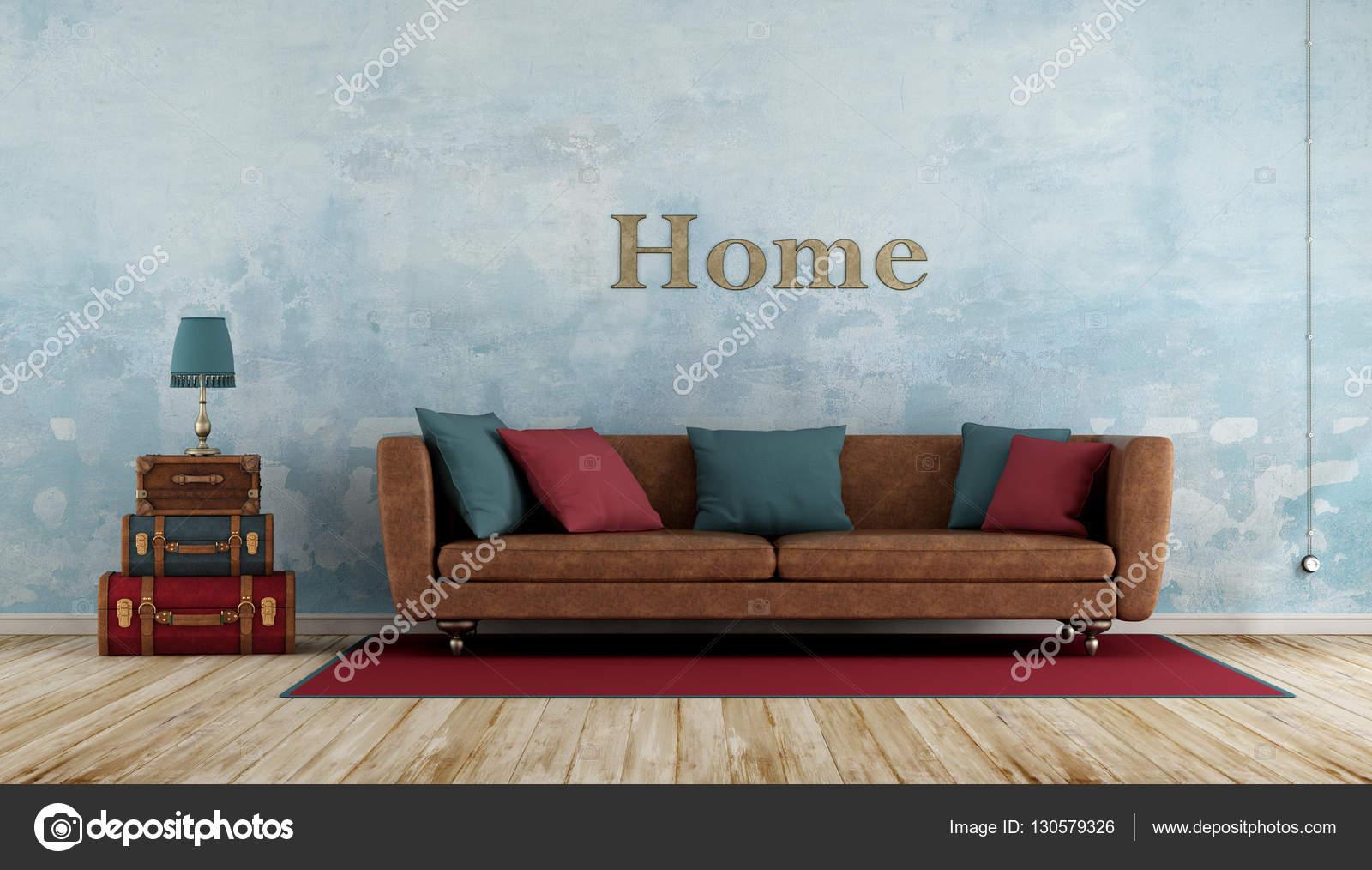 Bunte Vintage Wohnzimmer — Stockfoto © archideaphoto #130579326
