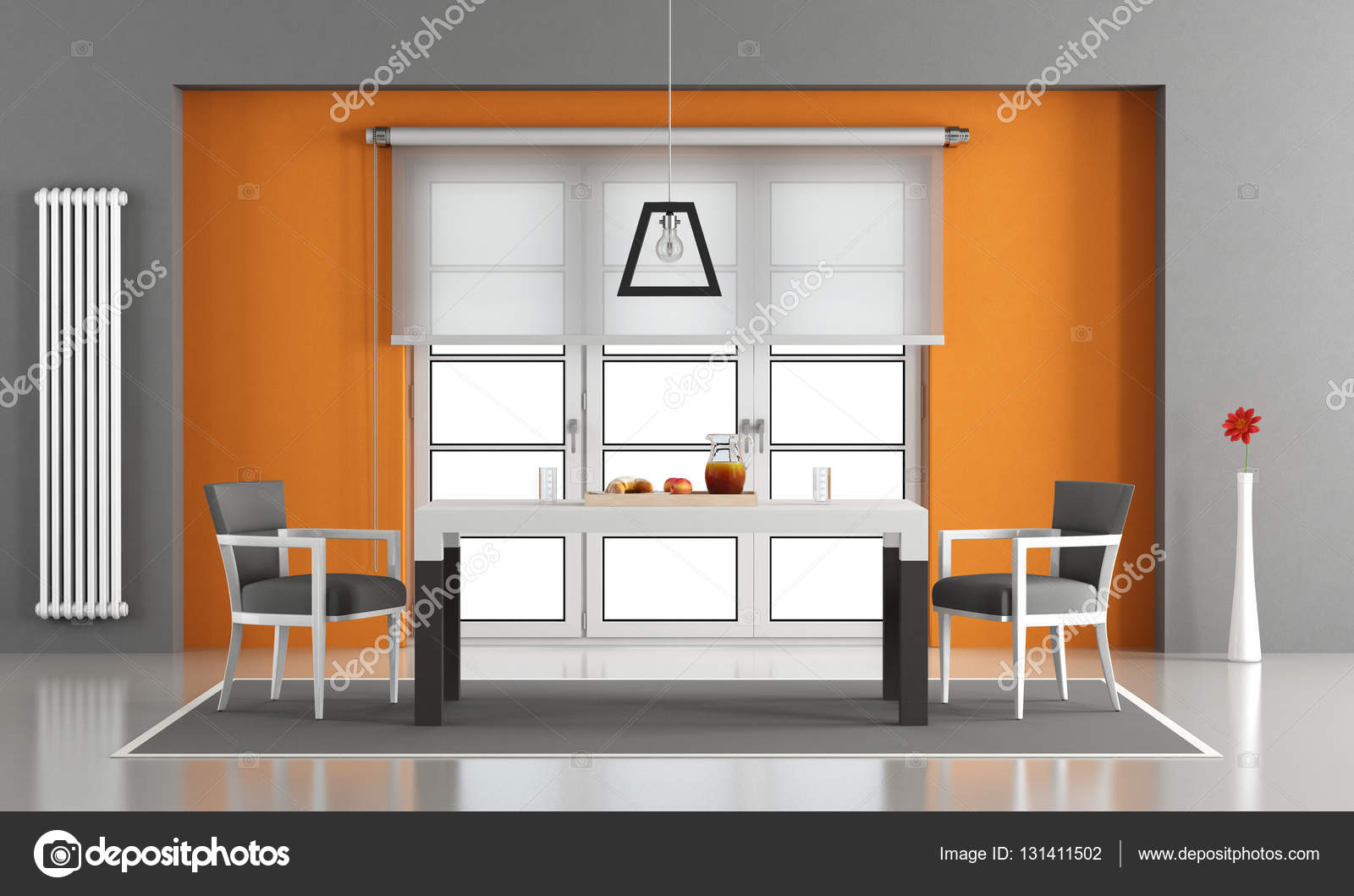 comedor contemporáneo — Fotos de Stock © archideaphoto #131411502