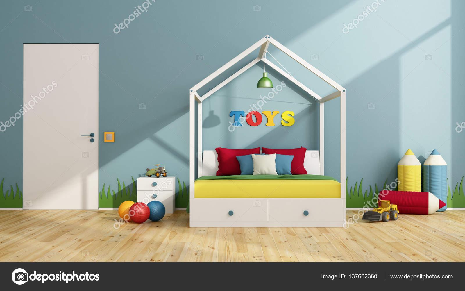 kleurrijke kinderen slaapkamer — Stockfoto © archideaphoto #137602360