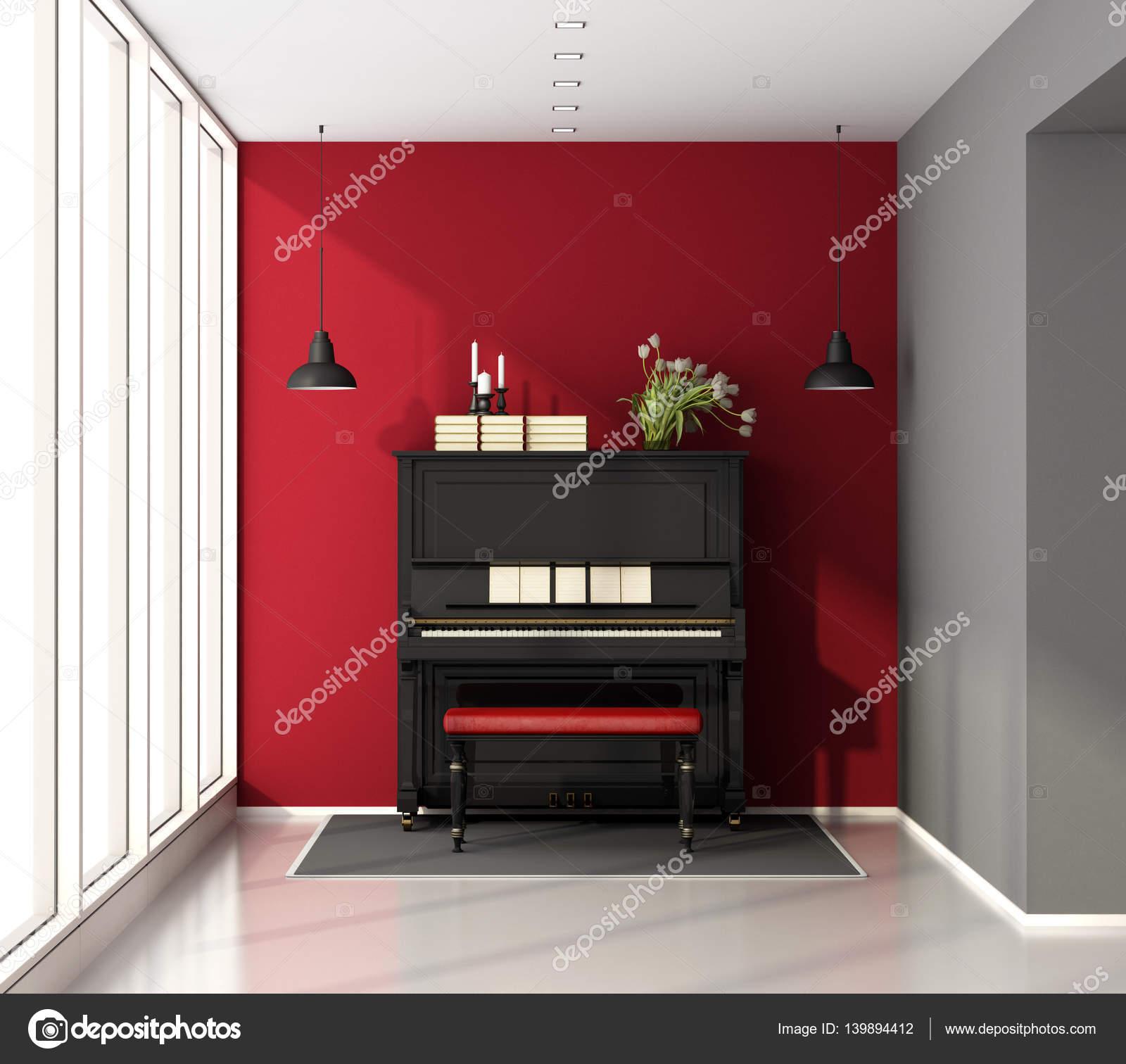Music Room With Piano U2014 Stock Photo