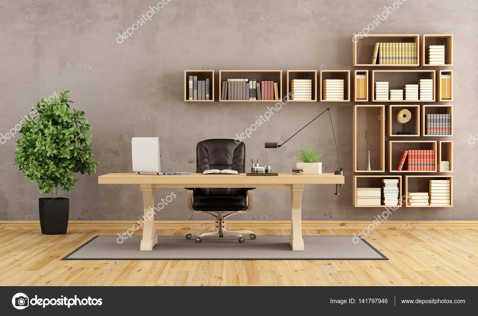 Bureau avec meubles en bois u photographie archideaphoto
