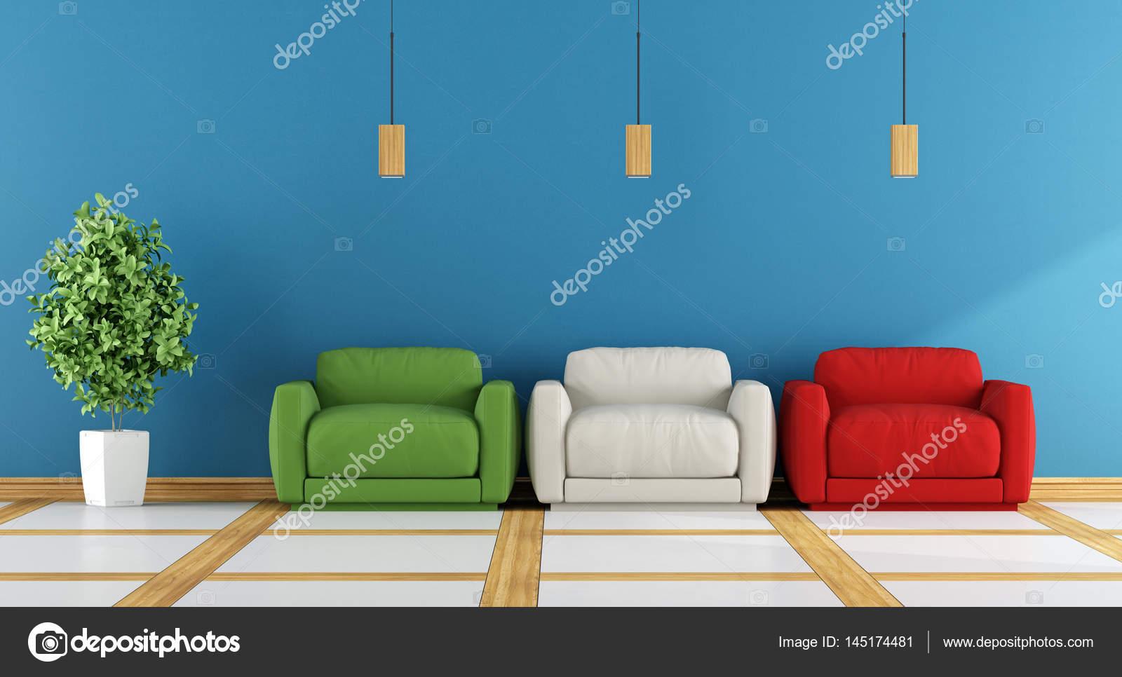 salon moderne coloré — Photographie archideaphoto © #145174481