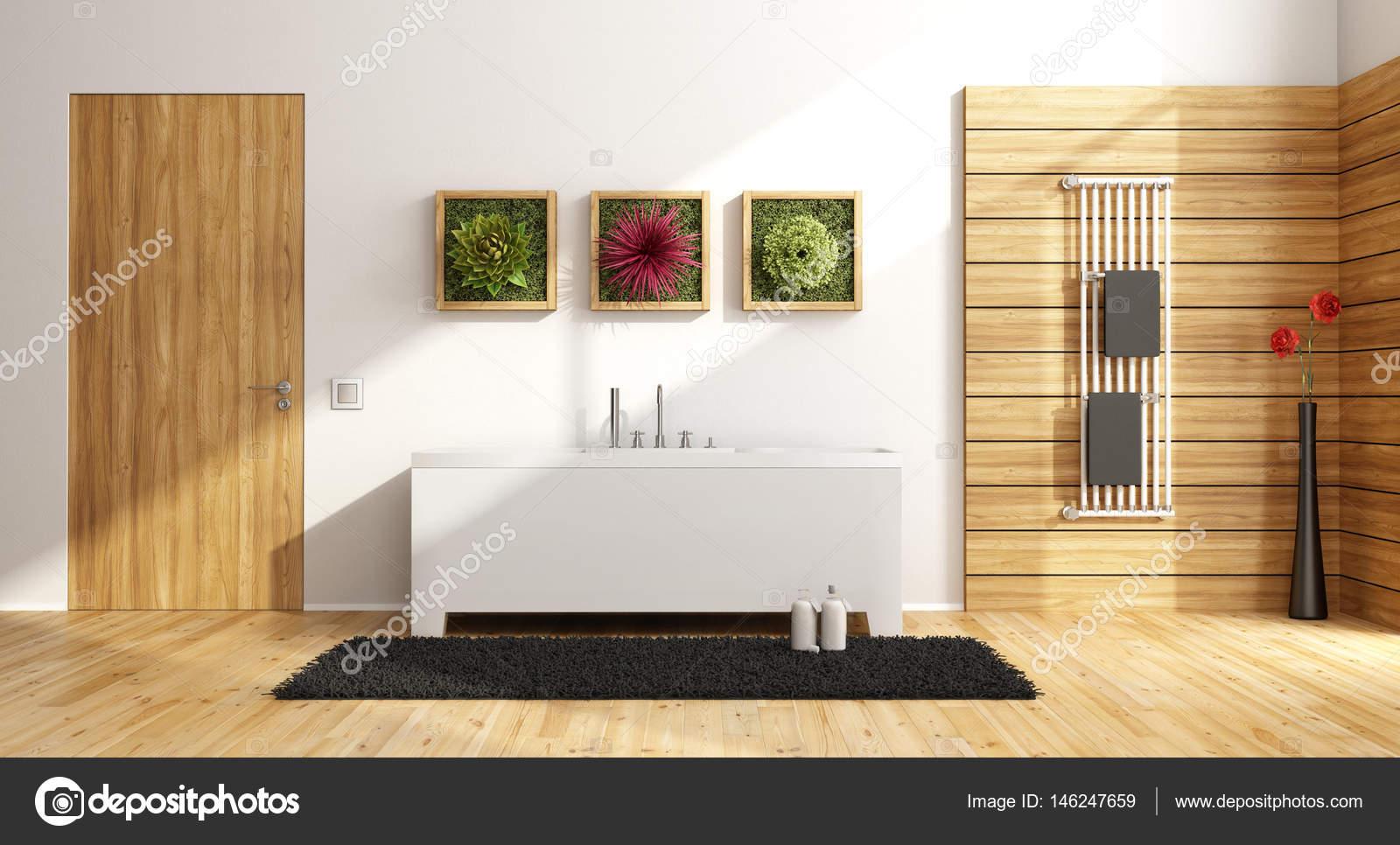 salle de bains moderne avec baignoire — Photographie archideaphoto ...