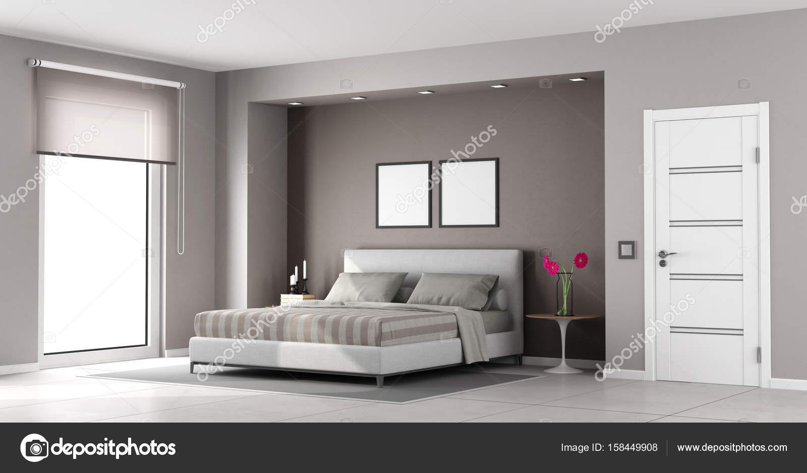 Minimalist master bedroom — Stock Photo © archideaphoto #158449908