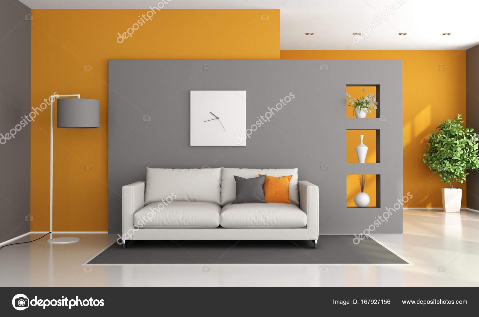 Salotto Moderno Grigio : Salotto moderno interno con un tavolo alla moda funky caffè e