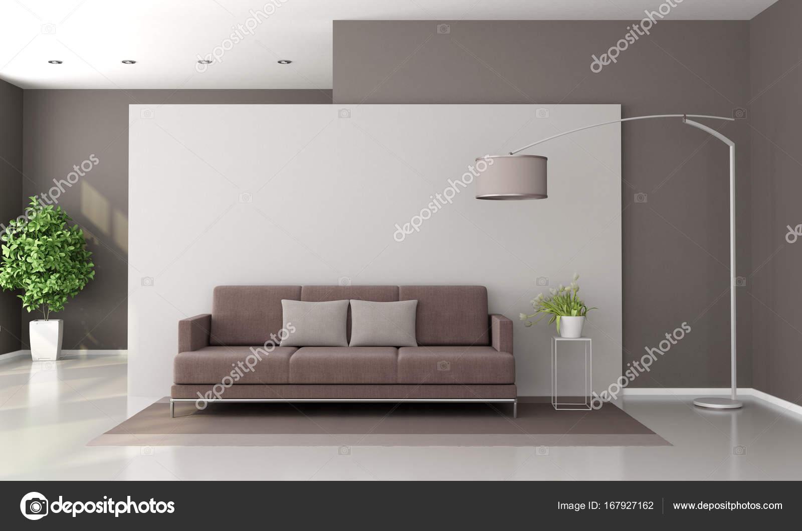 Salotto Moderno Bianco : Salotto moderno marrone e bianco u foto stock archideaphoto