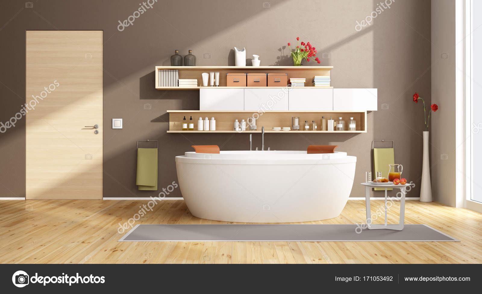 Vasca Da Bagno Rotonda : Bagno moderno con vasca da bagno rotonda u2014 foto stock