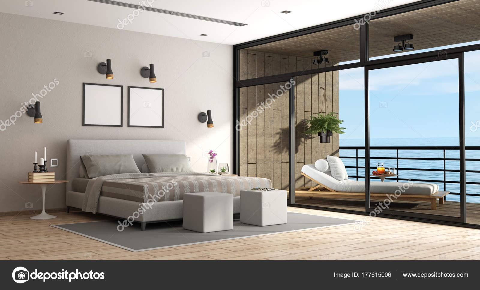 Grote slaapkamer van een vakantievilla — Stockfoto © archideaphoto ...