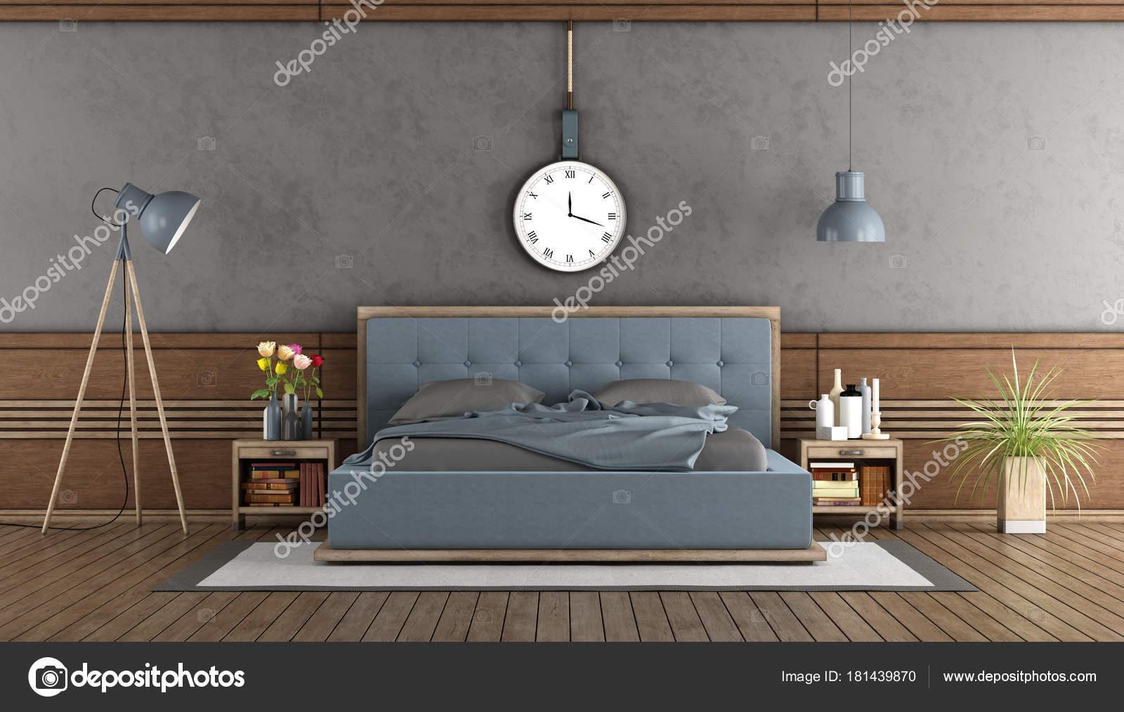 Elegante camera da letto con camera da letto blu foto stock archideaphoto 181439870 - Camera da letto foto ...