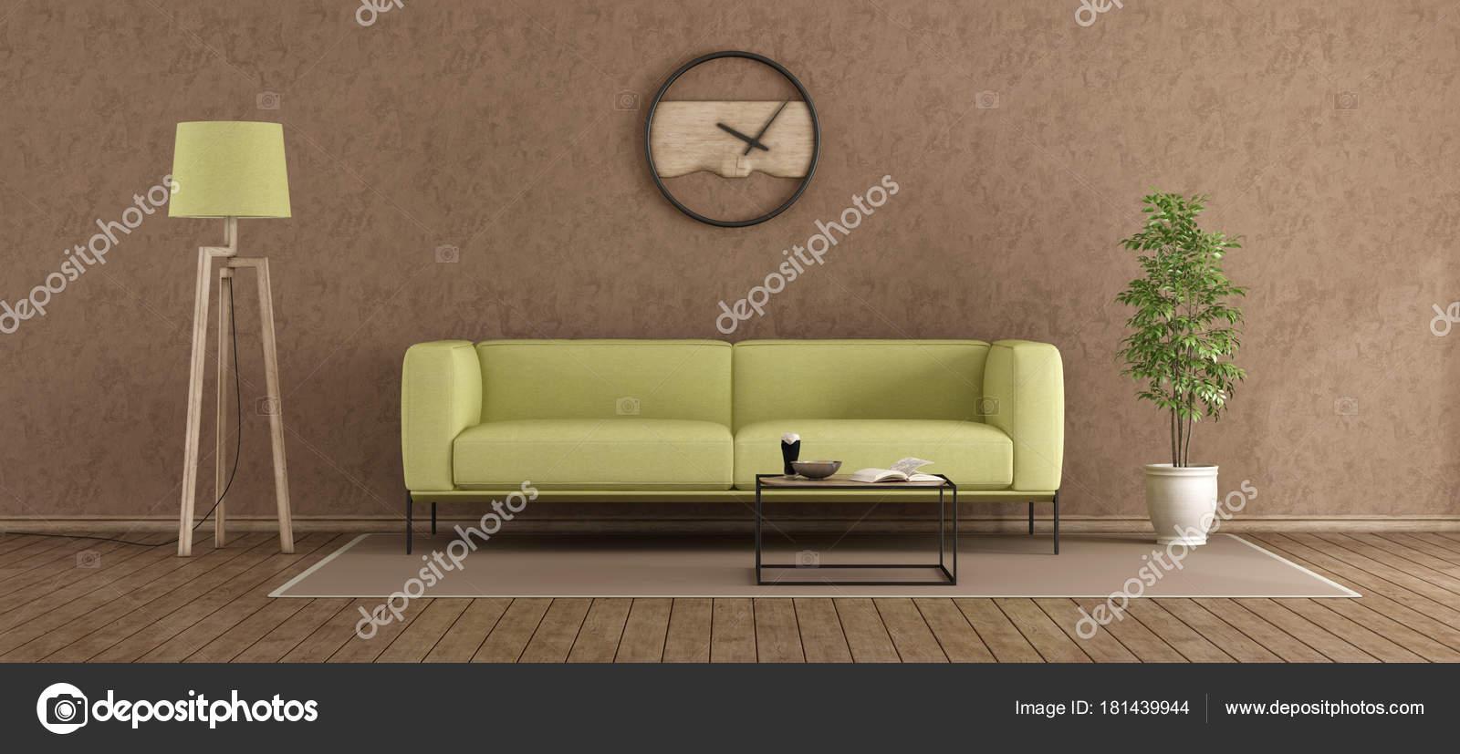 Salotto Moderno Verde : Salotto moderno verde e marrone u foto stock archideaphoto