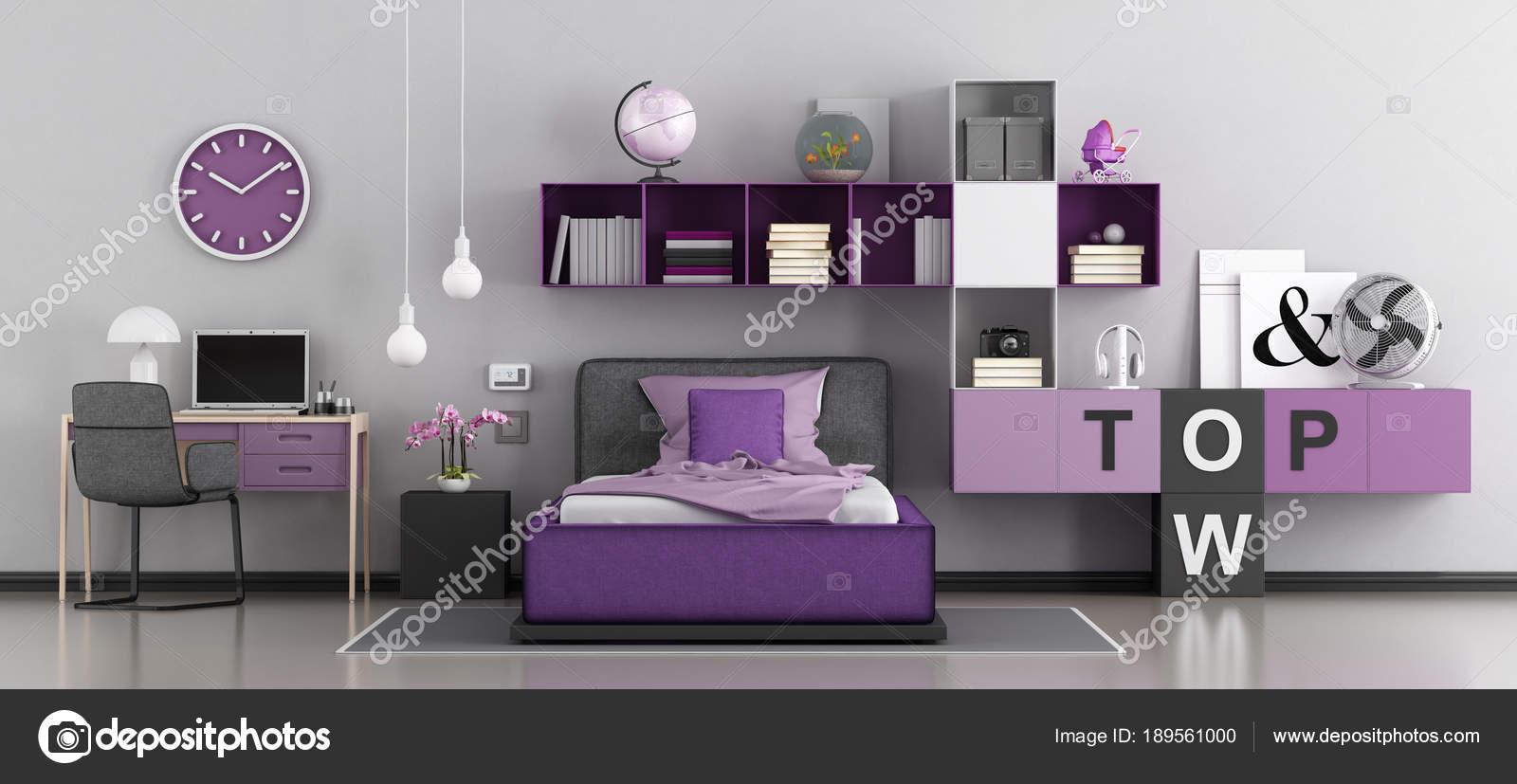 Moderna camera da letto per ragazza — Foto Stock © archideaphoto ...