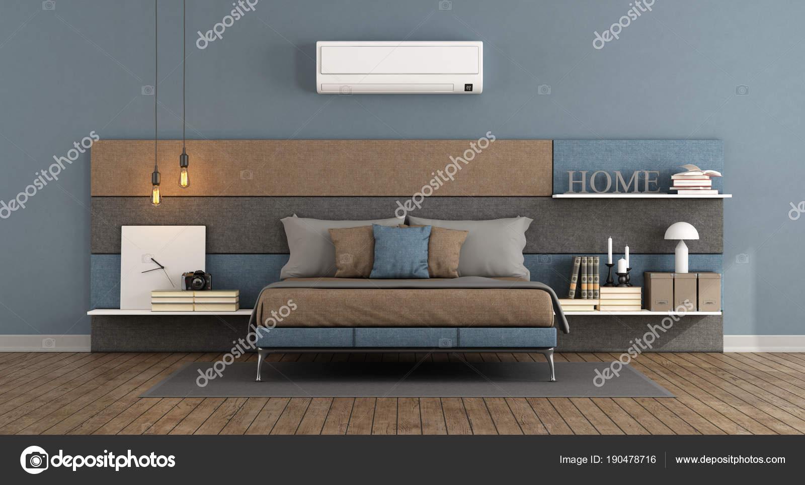 Moderne Schlafzimmer mit Klimaanlage — Stockfoto © archideaphoto ...