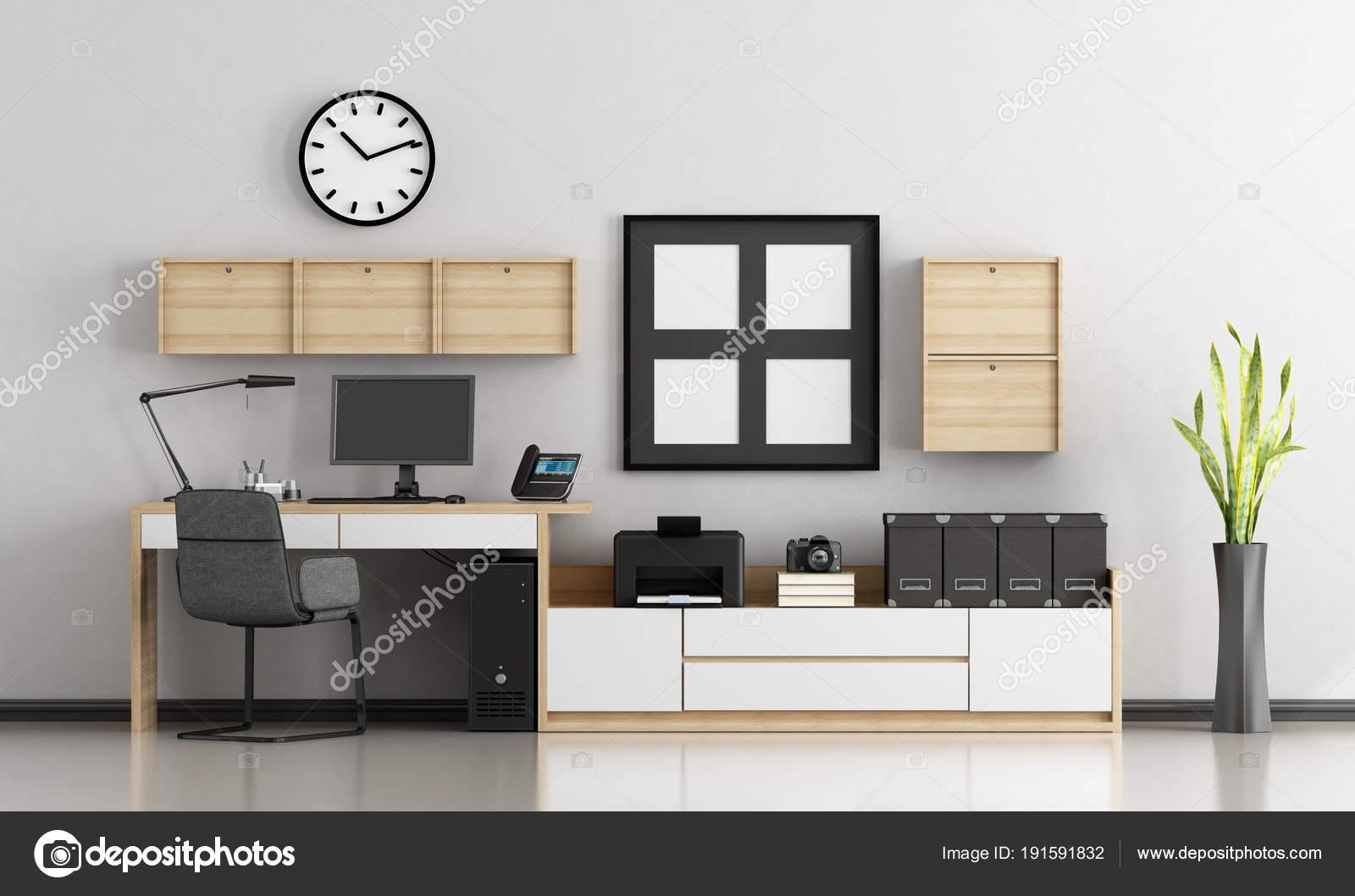 Uberlegen Minimalistische Zuhause Am Arbeitsplatz U2014 Stockfoto