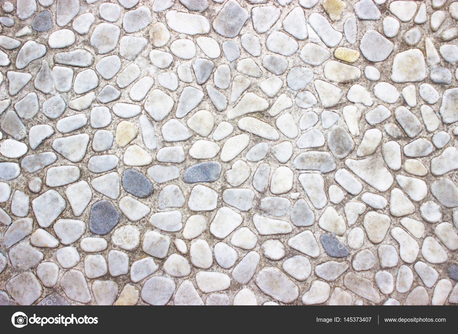 Decorative Stone Wall Texture Of The Small Boulders As
