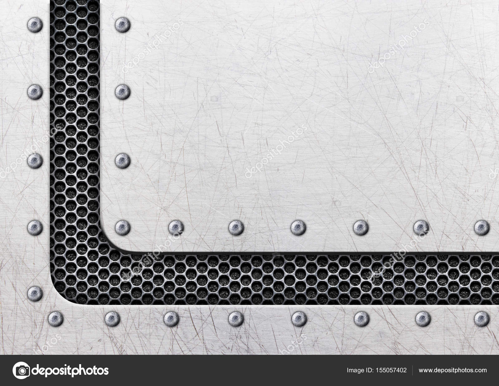 marco de acero, chapa vieja de fondo con remaches — Foto de stock ...