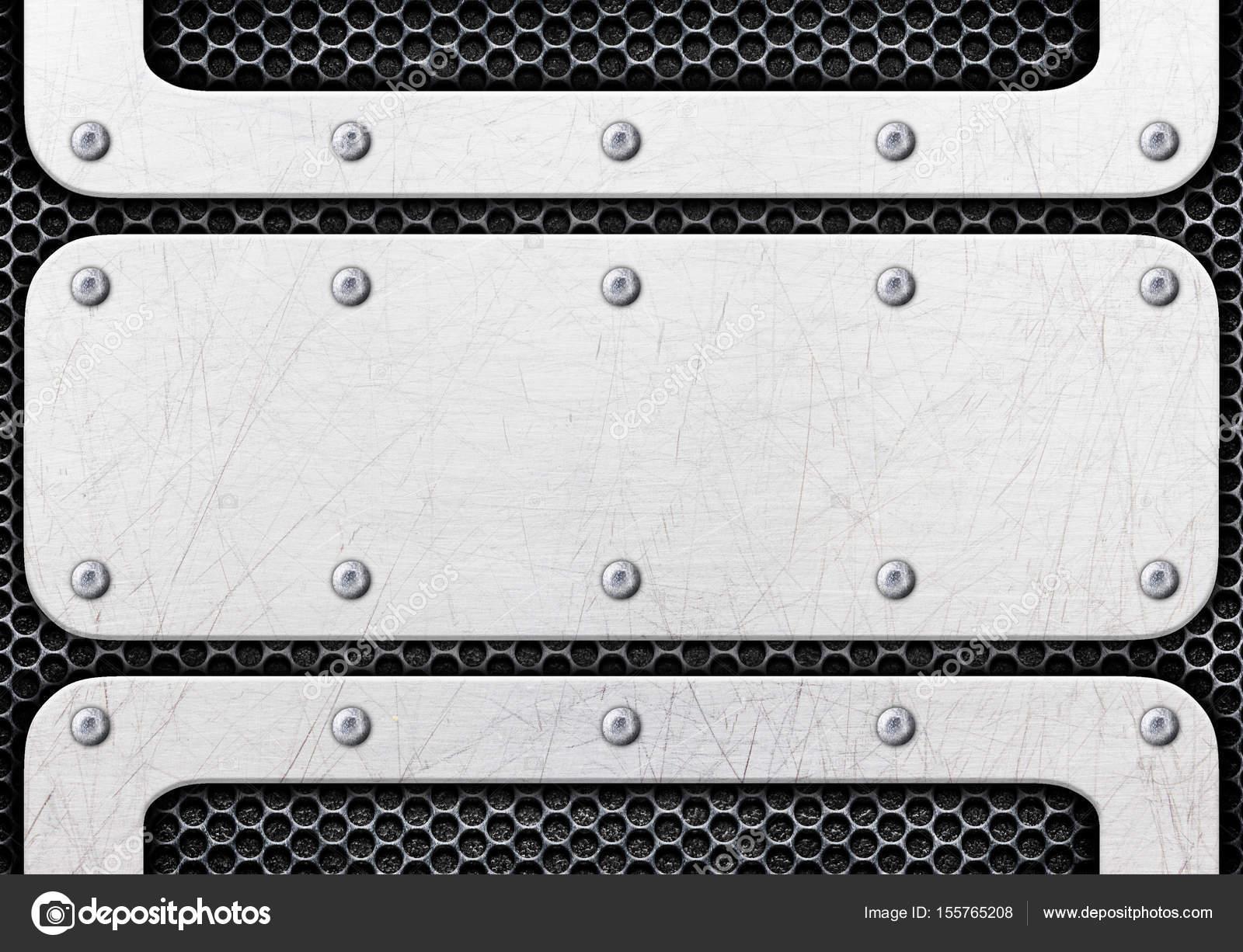 Fondo de chapa de aluminio cepillado plata — Fotos de Stock ...