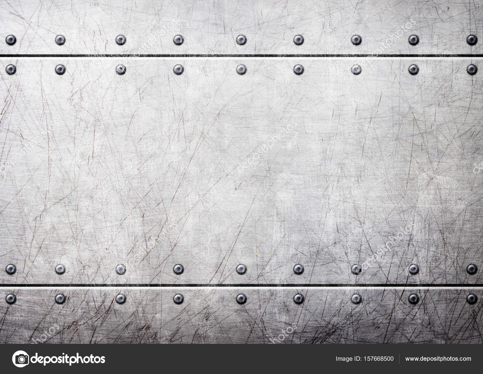 Steel Metal Plates With Rivets Seamless Background 3d