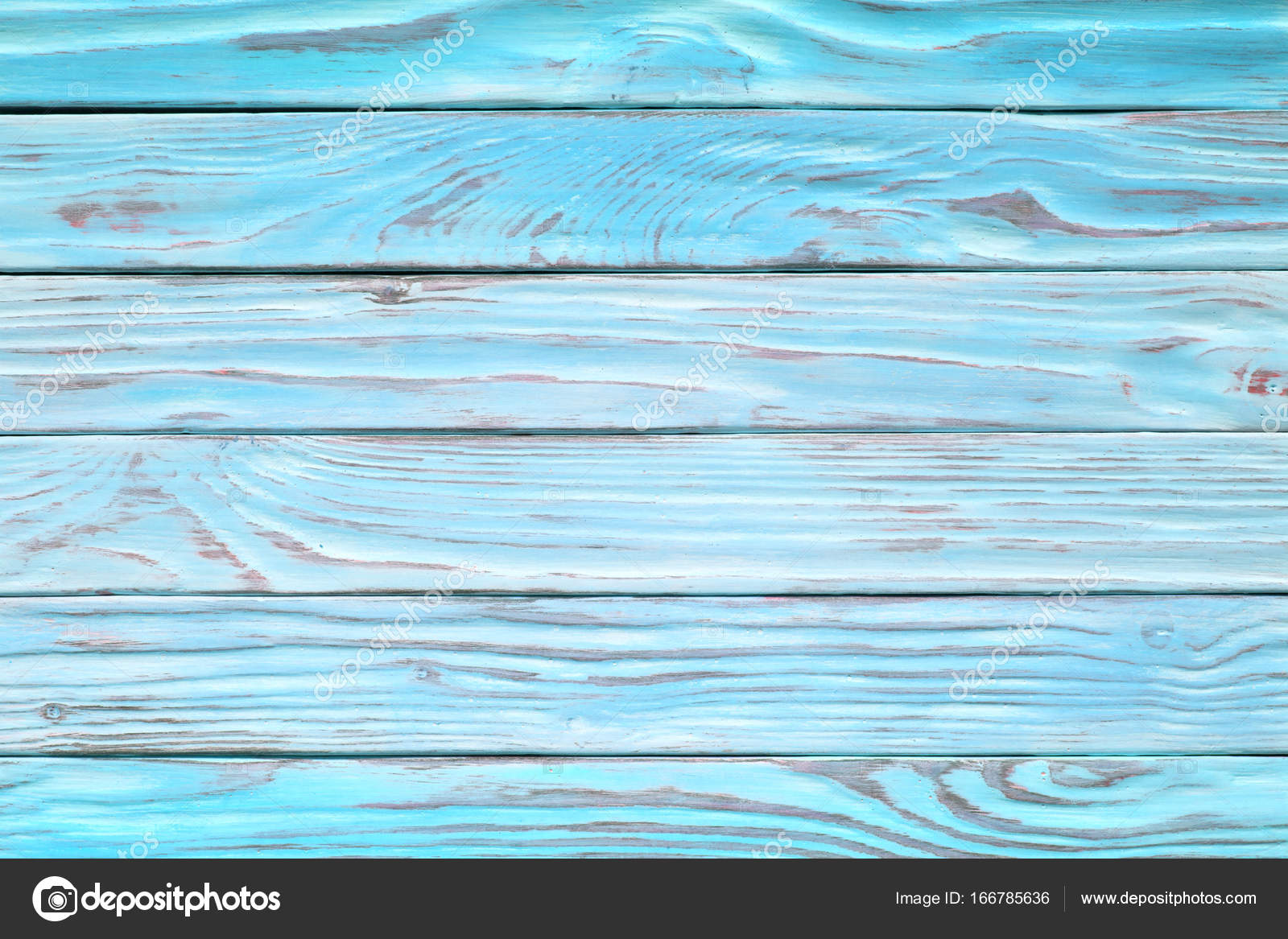 Aquamarine Wooden Planks Faded Wood Surface Rustic Blue Table W Stock Photo