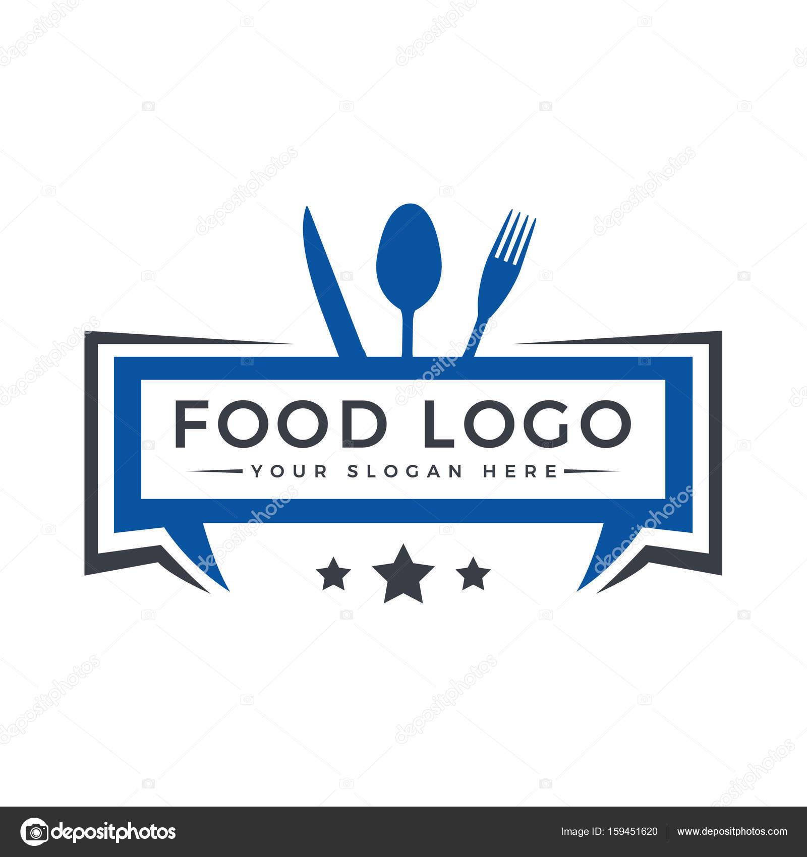 Diseño de logo de alimentos. Logo de la plantilla de restaurante ...