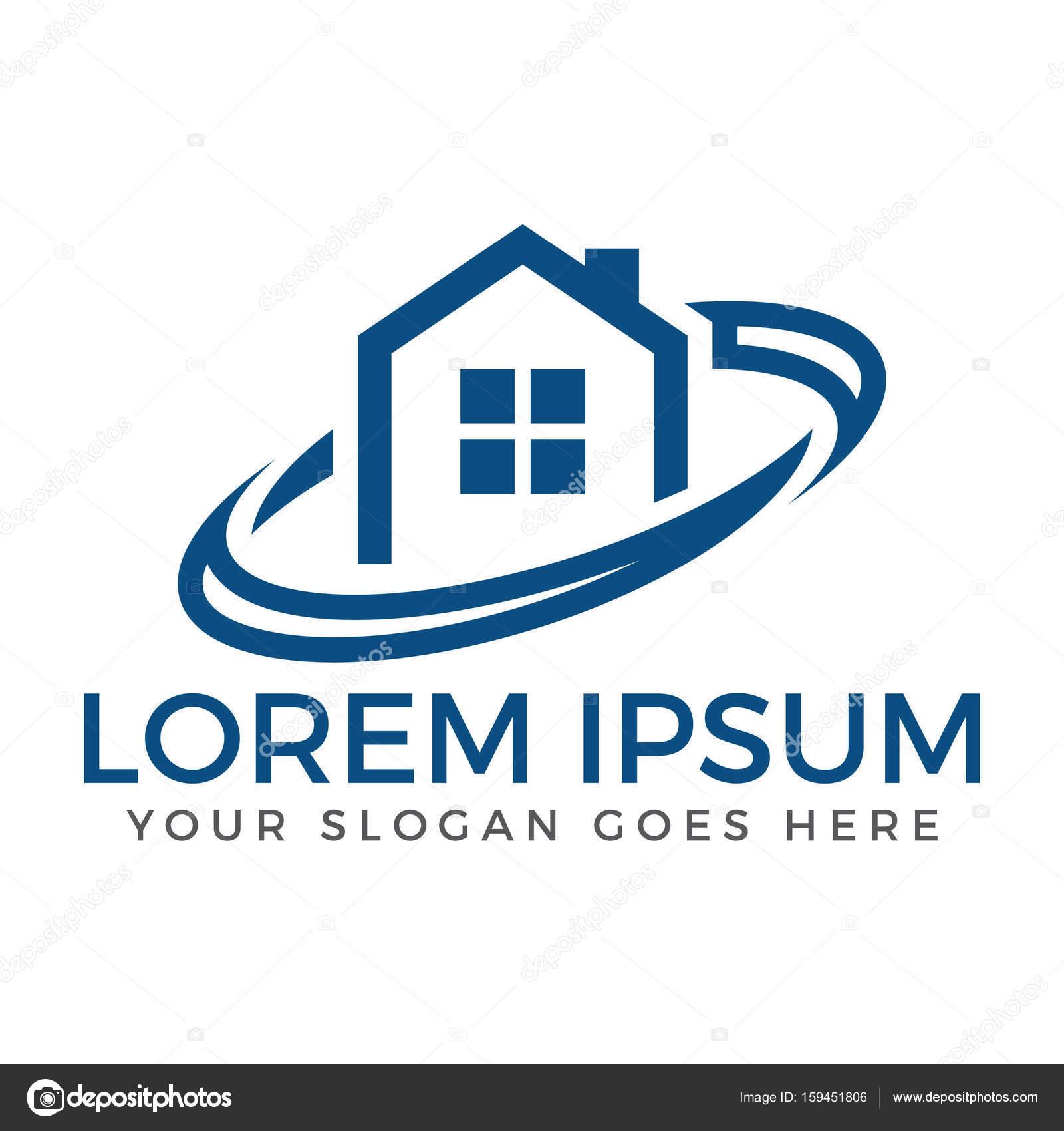 Real Estate Logo Design Home Construction Logo Stock