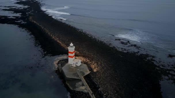 Maják Gardur na západním pobřeží Islandu
