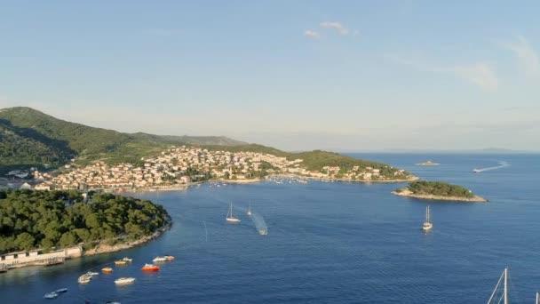 Přístav Hvar v Chorvatsku Letecký pohled