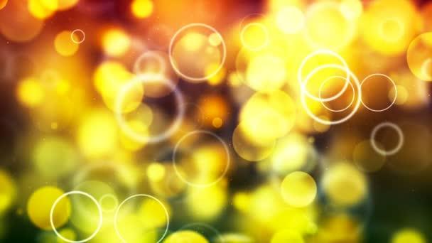 HD Loopable pozadí s pěkné žluté bubliny