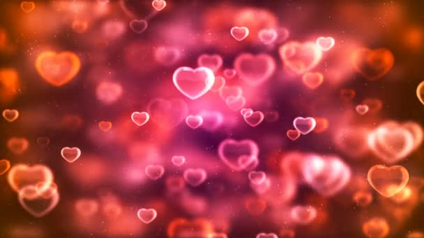 HD Loopable Background with nice pink flying hearts
