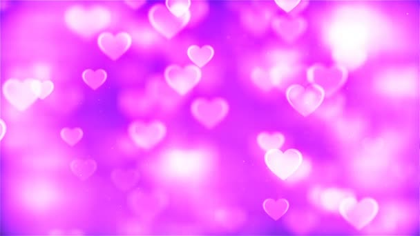 HD Loopable Background with nice abstract pink flying hearts