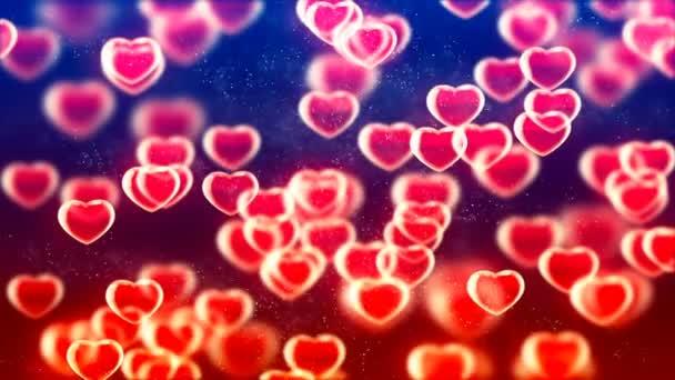 HD smyk na pozadí s pěkným letícím červeným srdcem