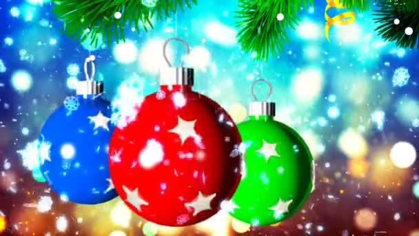 HD Loopable pozadí s pěknou vánoční koule