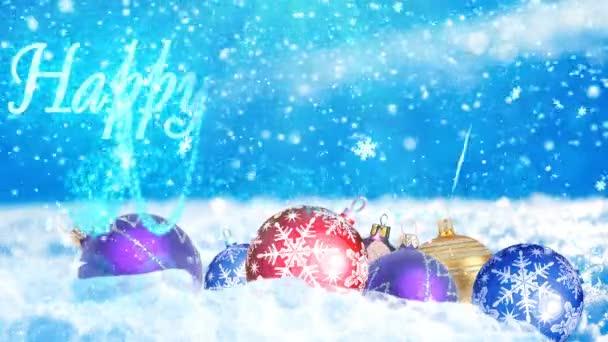hd loopable Hintergrund mit schönen Weihnachtskugeln