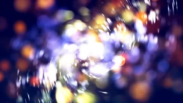 hd loopable Hintergrund mit schönen abstrakten bunten Bokeh