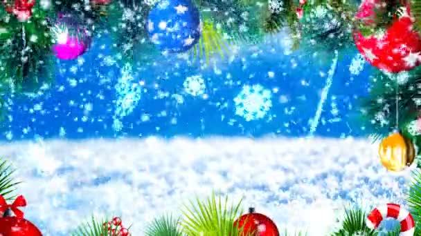 HD Loopable pozadí s pěkné sněhové vločky a vánoční motiv