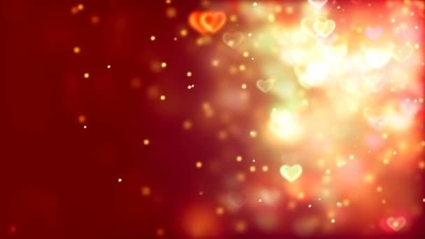 Valentinky den abstraktní pozadí, létající srdce