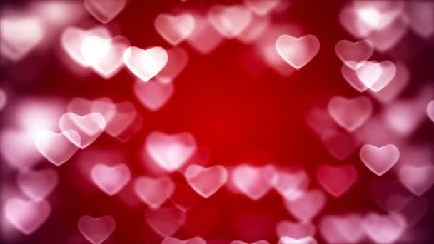 Valentines day abstract background, flying hearts
