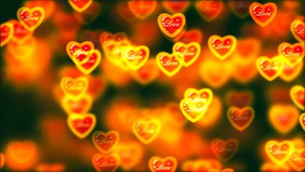 Létající srdce, pozadí abstraktní Loopable