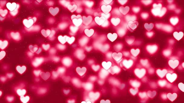 Valentinky den pozadí, abstraktní srdce a částice