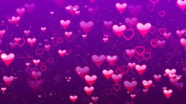 Létající srdce. Abstraktní Loopable pozadí