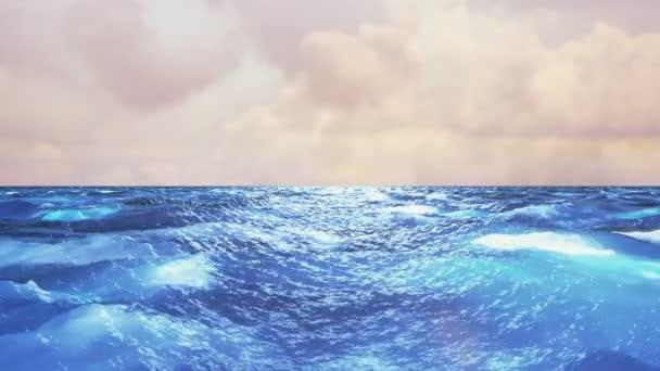 Realistické oceán, pozadí abstraktní Loopable