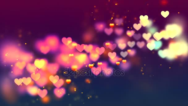 Flying Hearts. Abstract Loopable Background