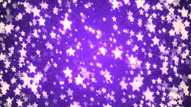 Loopable pozadí abstraktní s pěkný fialový létající hvězdy