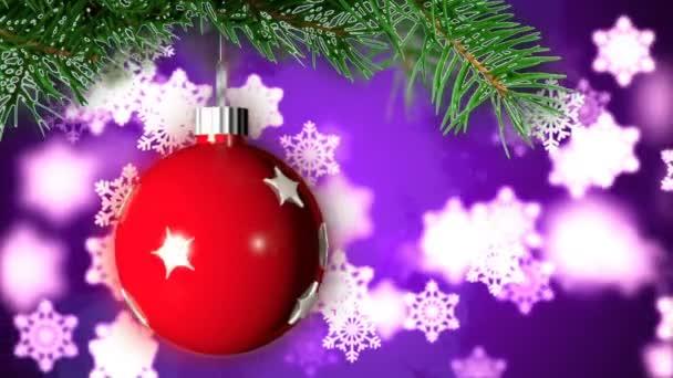 Vánoční loopable pozadí s pěkný míč