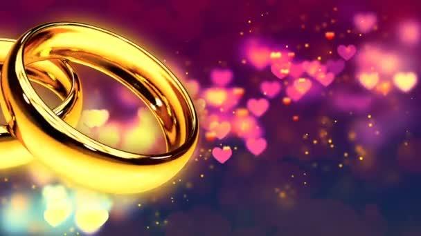 Abstrakte Endlos wiederholbar Hintergrund mit zwei goldenen Ringen